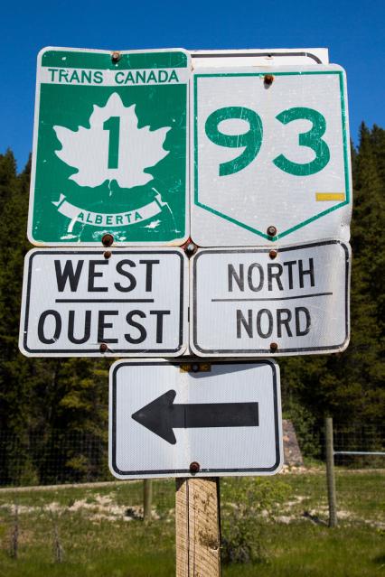 estradas Banff e Jasper