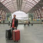 Bagagem em Trem na Europa